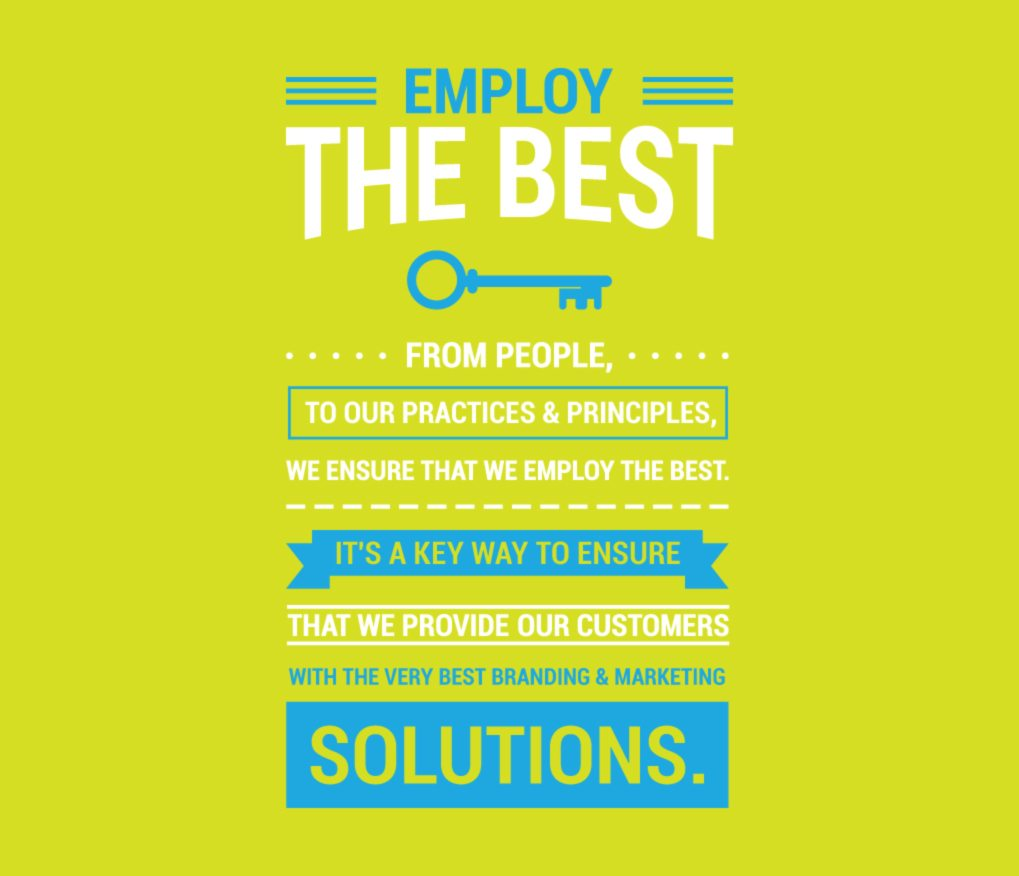 Employ the best